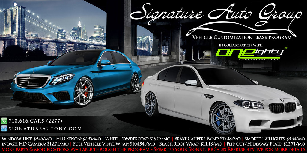 Signature Auto Group >> Oneighty Banner Design For Signature Auto Leasing Designed