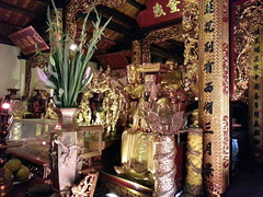 Inside the temple at Tran Quoc pagoda