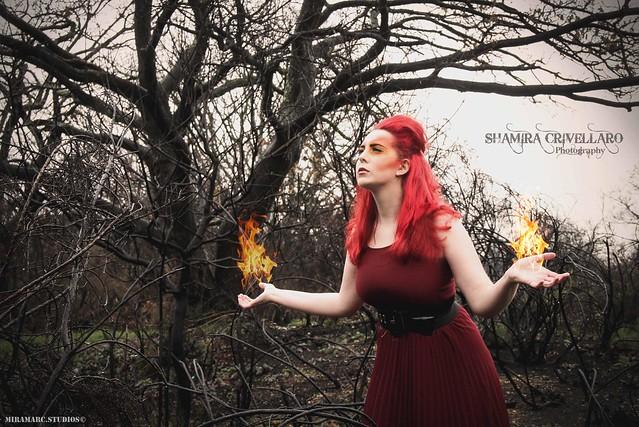The Four Elements: Fire   Photographer: Shamira.Crivellaro Makeup & Hair: Fiona Murphy  Model: Silvia Lozza