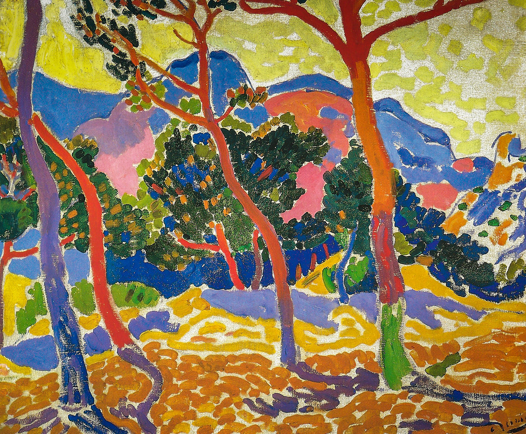 Image result for Les Arbres,1906, in the Albright-Knox collection
