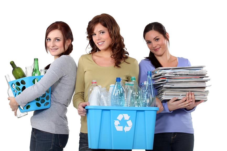 Image result for women recycling