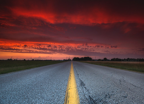 road ca sunset red summer sky ontario canada color colour weather clouds rural landscape pavement essexcounty sony wide dramatic sigma wideangle transportation windsor drama amherstburg yellowline middleoftheroad sideroad twolane calebest