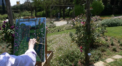 Art in Works at The Barcelona Rose Garden, Cervantes Park.
