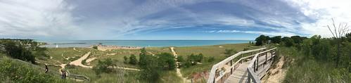 panorama beach michigan lakemichigan pan iphone newbuffalo iphone6s shotoniphone6s