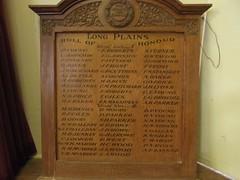 Long Plains original World War Honor Roll