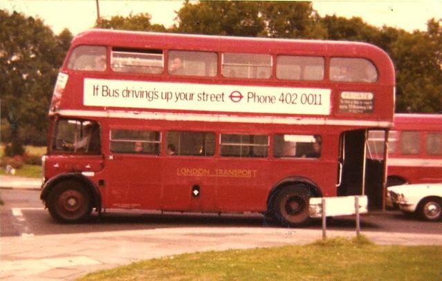 AEC Regent RT1101 13.9.78 Mortlake staffbus