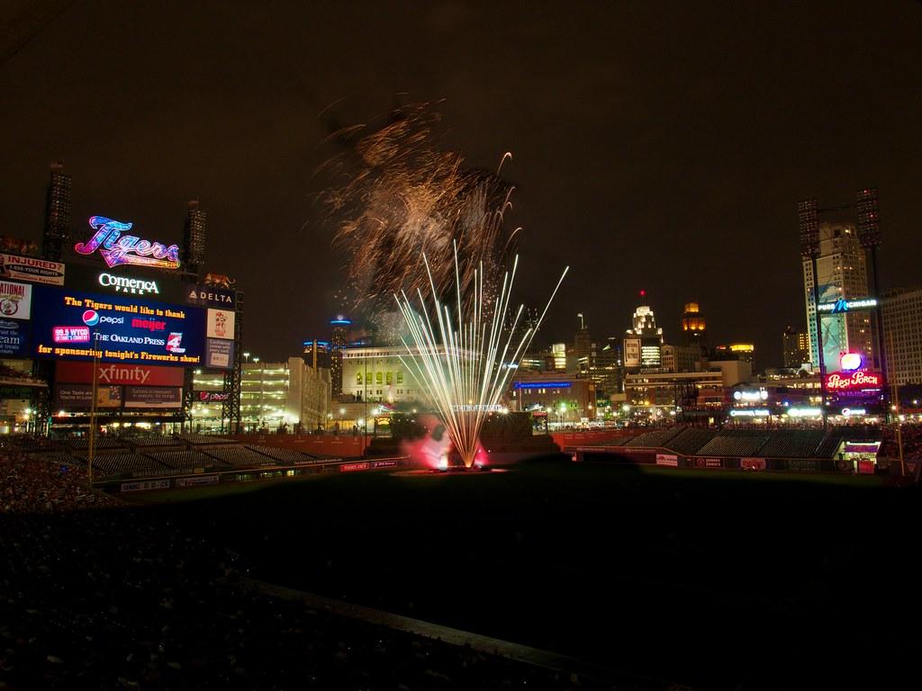 Detroit Tigers vs Boston Red Sox Fireworks   This work is li