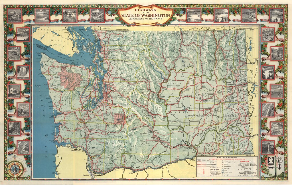 1941 Washington State Tourist Map | Washington State Dept of ...