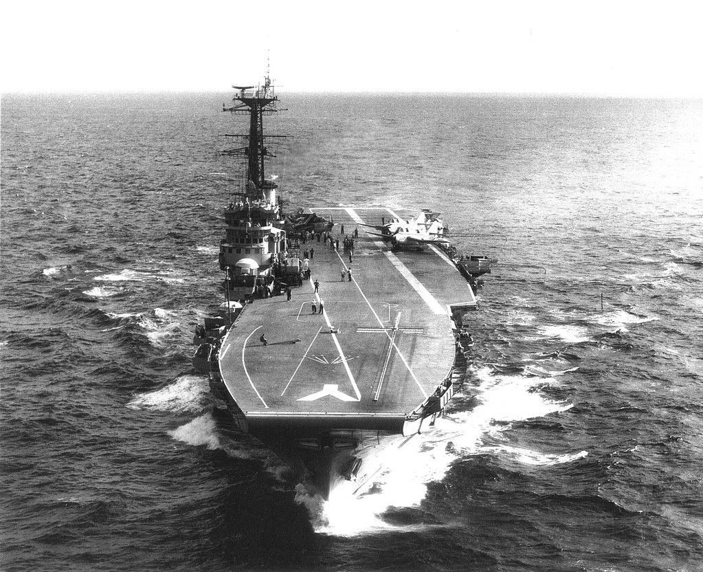 THE NAVY IN THE 1950s: HMAS MELBOURNE [II] in 1957 - George Self, RAN 1948-60.