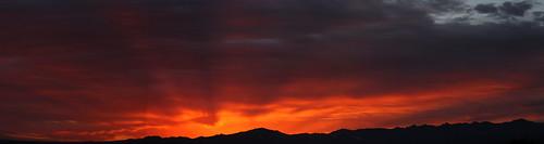 sun rise sunrise morning dawn daybreak cloud clouds sky skyline skyscape tucson arizona az tucsonaz arizonasky arizonaskyline arizonaskyscape arizonasunrise red orange yellow gold golden salmon black canon eos rebel t2i canoneosrebelt2i eosrebelt2i february 23 2014 february232014 22314 2232014 santa rita mountains santaritamountains panorama