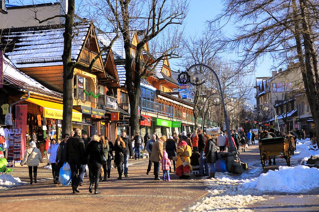 Zakopane, Krupówki / Krupowki - main street of Zakopane, Poland