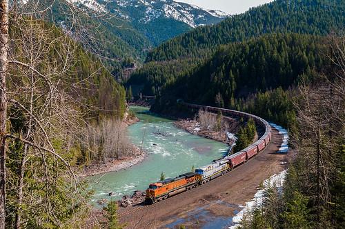 railroad montana unitedstates glacier bnsf flatheadriver mariaspass westglacier 4592 hiline 4590 citirail kengood bnsf4592 crex1713