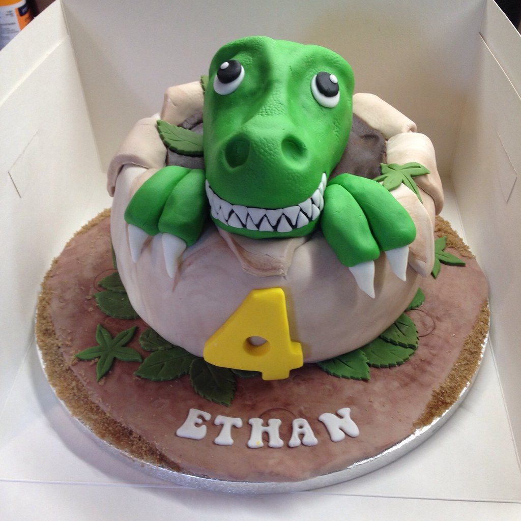 Fine T Rex Birthday Cake Sugardust Cakes Flickr Personalised Birthday Cards Paralily Jamesorg