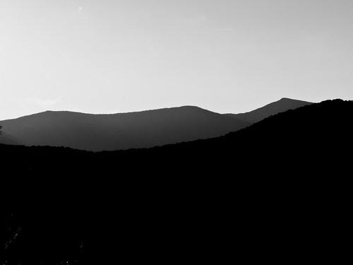 sunset blackandwhite mountains northcarolina backlit montreat