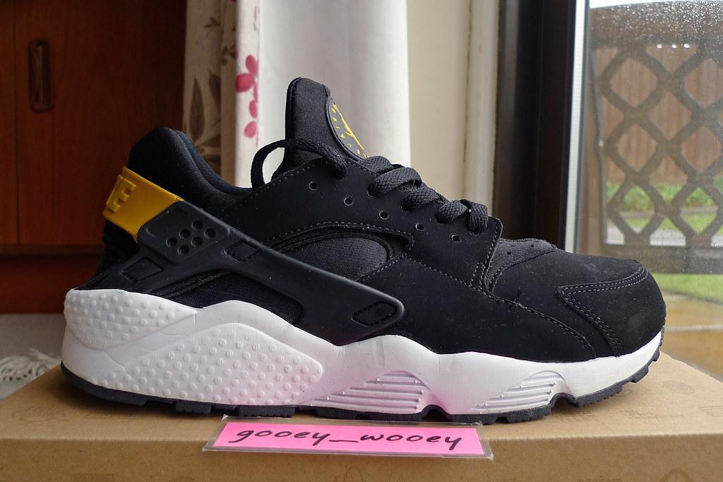 new high the best cheap for sale Nike Air Huarache 'Black / Black - Tour Yellow - White' (3 ...