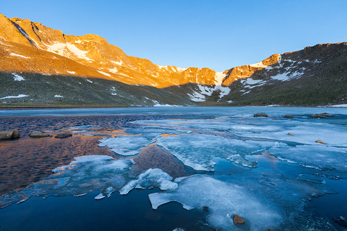 morning mountains ice sunrise colorado unitedstates lakes evergreen waterscapes arapahonationalforest mountevansscenicbyway