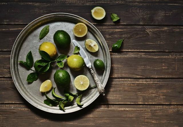 fresh lemons and limes ...