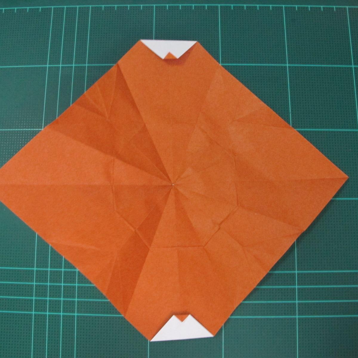 การพับกระดาษเป็นที่คั่นหนังสือหมีแว่น (Spectacled Bear Origami)  โดย Diego Quevedo 017