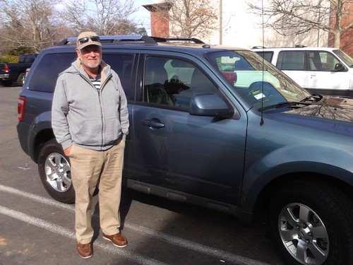 Congratulations to Bud Plant of Roseville, CA on his 2012 Ford Escape purchase from James Deno. Photo