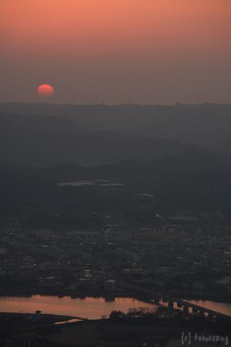 sunset japan night nightscape saga 夜景 夕日 karatsu 佐賀 kagami yakei 展望台 唐津 鏡山
