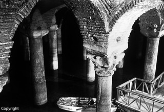 Turkey Istanbul Underground Cistern Basilica 1970's