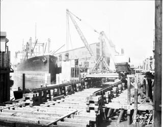 Railroad Avenue near Pier 14 (now Pier 70), 1934