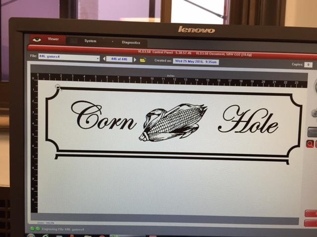 Laser engraving design