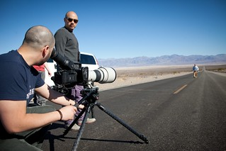 Manfrotto Be Free Tripod ad shoot BTS - Death Valley long shot | by The Bui Brothers