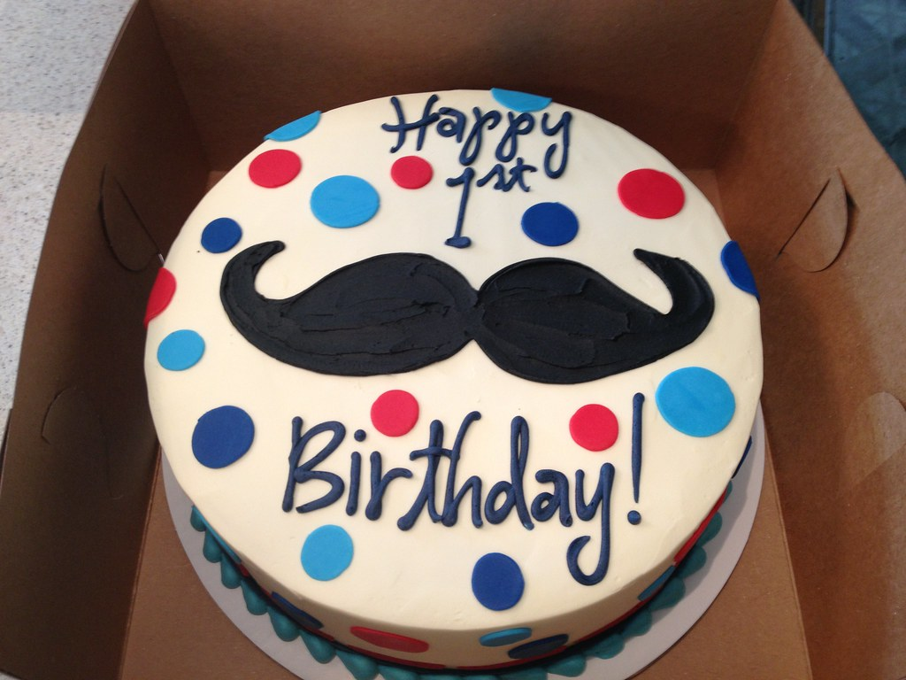 Outstanding Mustache Birthday Cake Delicately Delicious Flickr Personalised Birthday Cards Veneteletsinfo