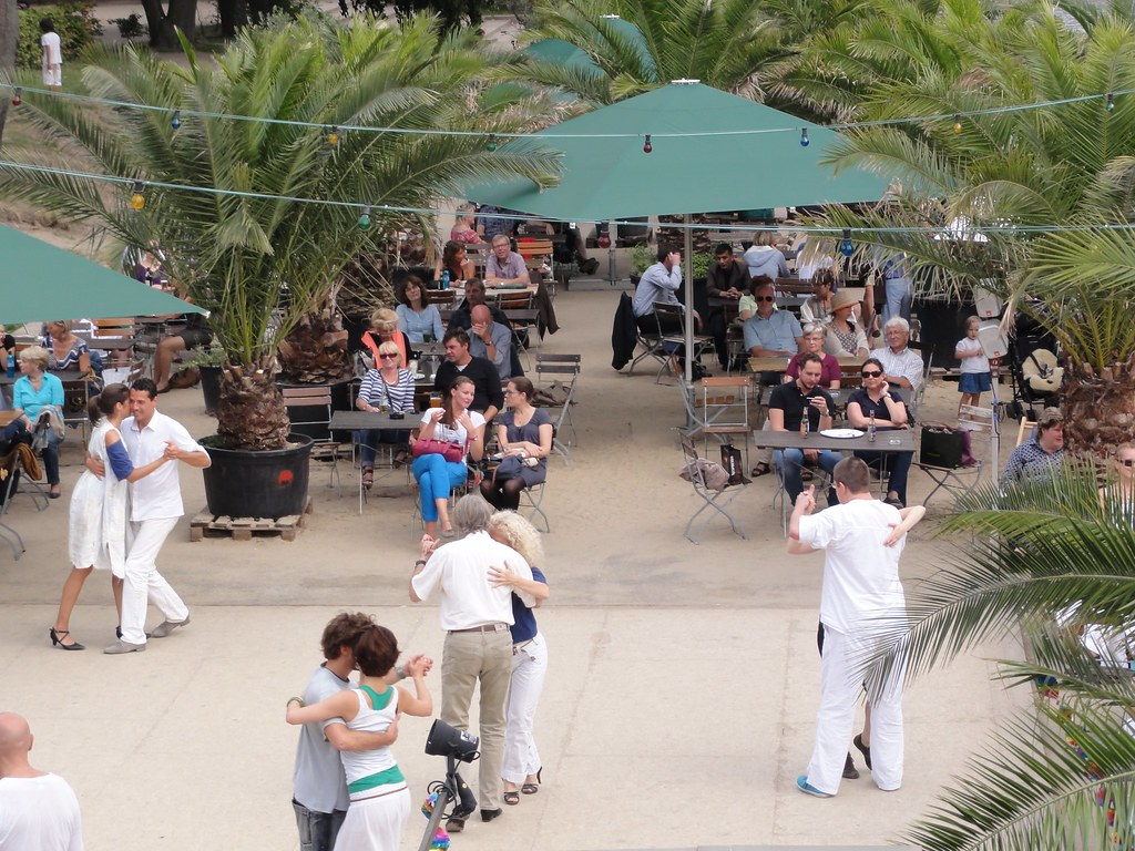 People Dancing at the Beach Bar.
