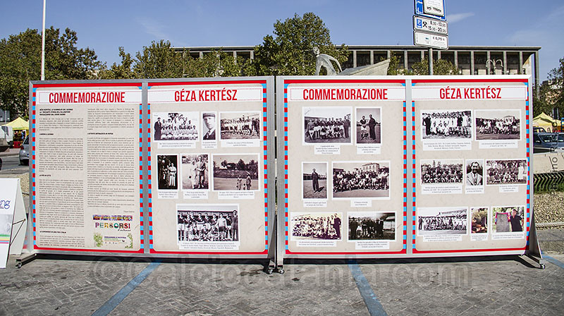 La commemorazione di Géza Kertész in Piazza Verga nel 2013