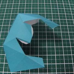 วิธีทำของเล่นโมเดลกระดาษรูปนก (Bird Paper craft ) 013