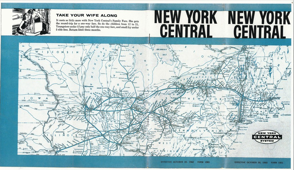 Map Of New York Rail System.New York Central Railroad Timetable System Map 1960 Flickr