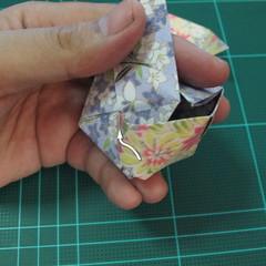 การพับกระดาษเป็นรูปเรขาคณิตทรงลูกบาศก์แบบแยกชิ้นประกอบ (Modular Origami Cube) 033