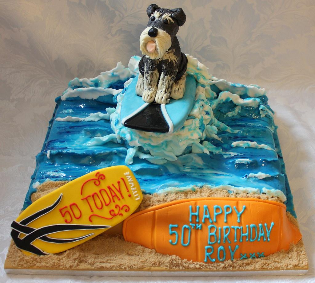 Surprising Surfing Dog Birthday Cake Pauls Creative Cakes Flickr Funny Birthday Cards Online Elaedamsfinfo