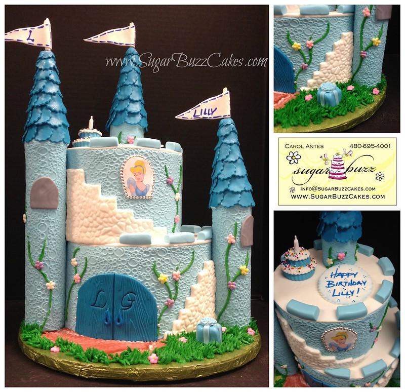 Remarkable Cinderella Castle Birthday Cake Carol Flickr Funny Birthday Cards Online Fluifree Goldxyz