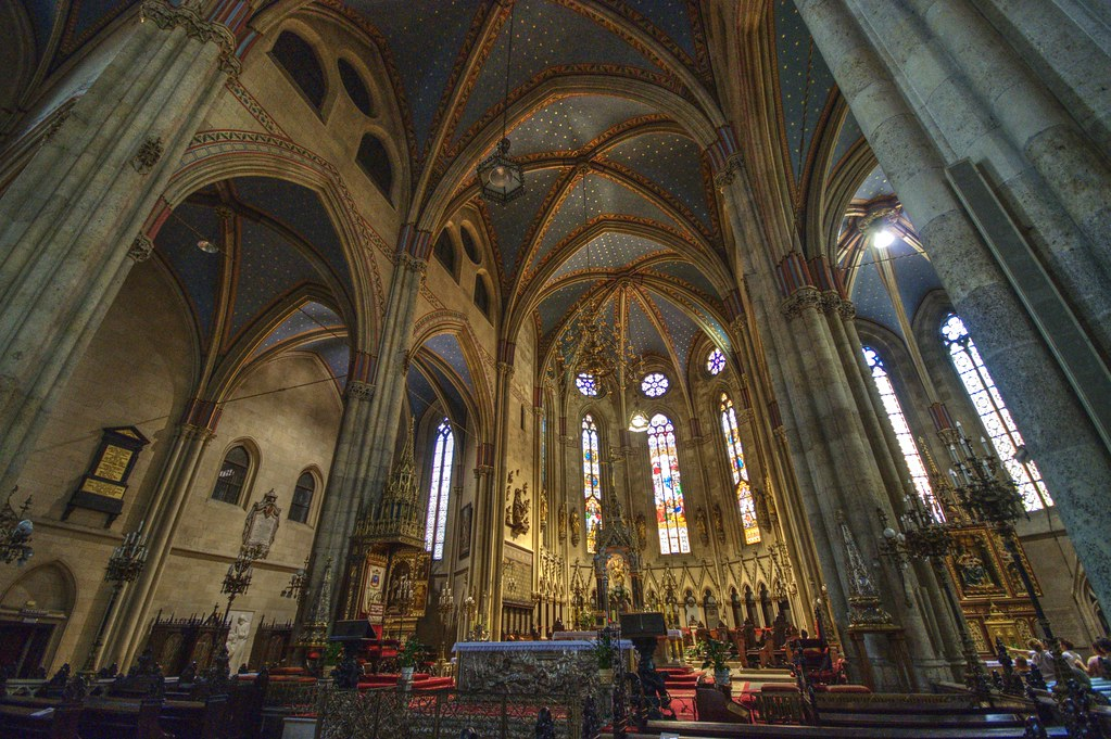 Main Nave And Apse Zagreb Cathedral Hdr The Zagreb