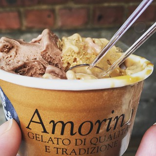 Simply decadent gelato #amorinogelato #nyceats inimitable and dulce de leche | by famfriendsfood