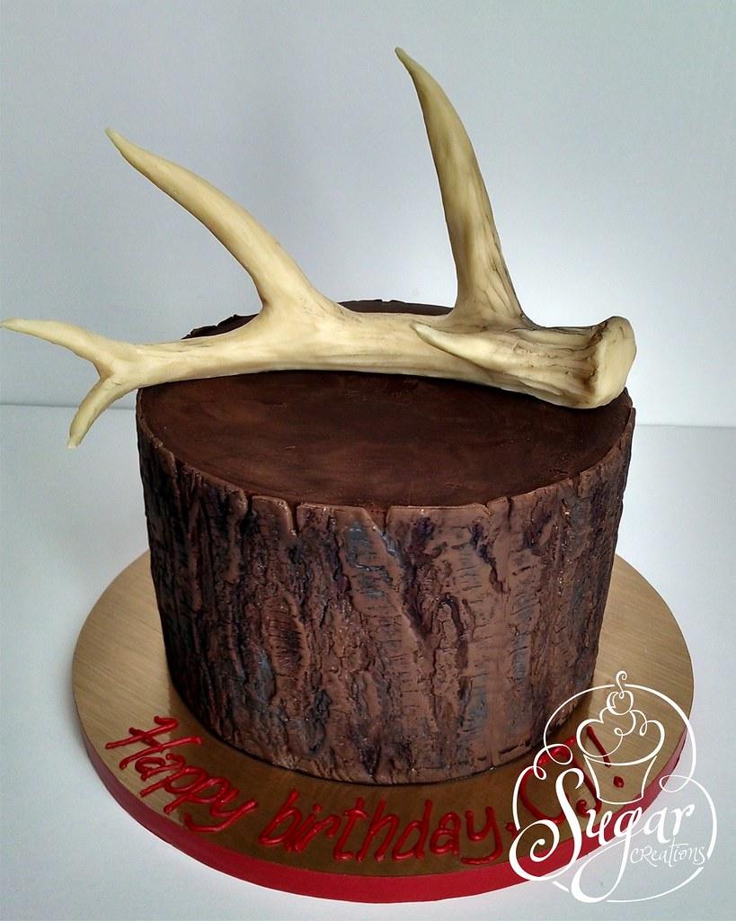 Outstanding Deer Antler Birthday Cake Rebecca Sutterby Flickr Birthday Cards Printable Inklcafe Filternl