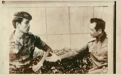 The Refused Handshake, a Vietnamese ranger and North Vietnamese colonel, Saigon, 1973. | by manhhai