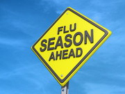 Flu Season Ahead Yield Sign | by One Way Stock