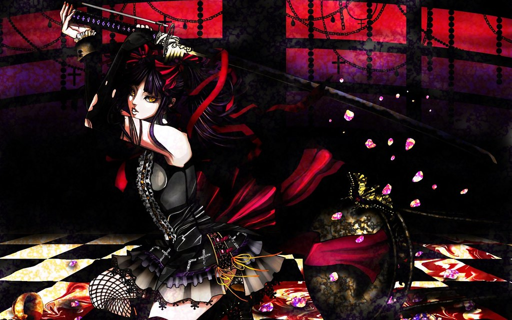 Katana Gothic Anime Anime Girls Swords Hd Wallpapers Flickr
