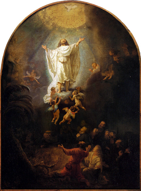 Rembrandt  'The Ascension Of Christ' 1636 Oil on canvas