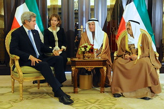 Secretary Kerry Meets With Amir of Kuwait at Syria Donors' Conference