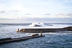 Puerto de Tapia al atardecer