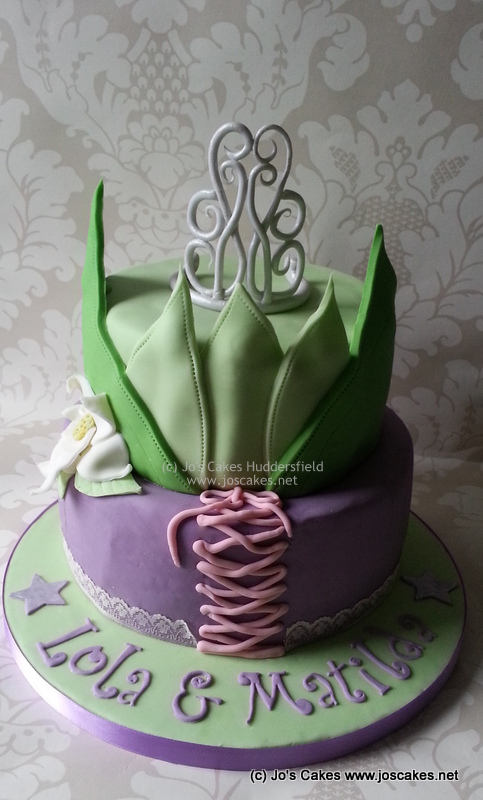 Pleasing Disney Princess Tiana And Rapunzel Birthday Cake A Disney Flickr Funny Birthday Cards Online Aeocydamsfinfo