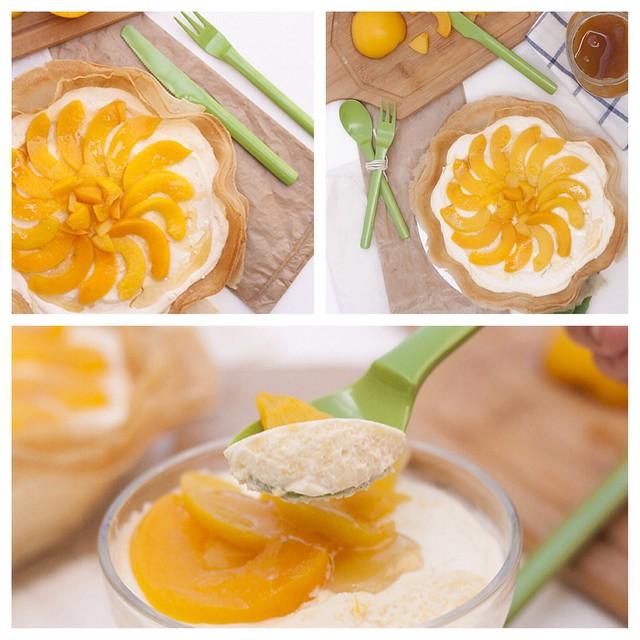 #domingo #Tartaleta de #mousse de #melocoton!/ #sunday #peach #mousse #pie #dessert #food #desserts #dessertoftheday #recipeoftheday #TagsForLikes #yum #yummy #amazing #instagood #instafood #sweet #chocolate #cake #icecream #dessertporn #delish #foods #de