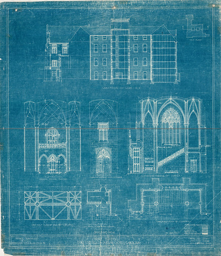 1928 General Library Elevation Plans | by DukeUnivLibraries