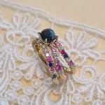 ピンク&ブルーのサファイア・リング  Blue Sapphire and Pink Sapphire Ring