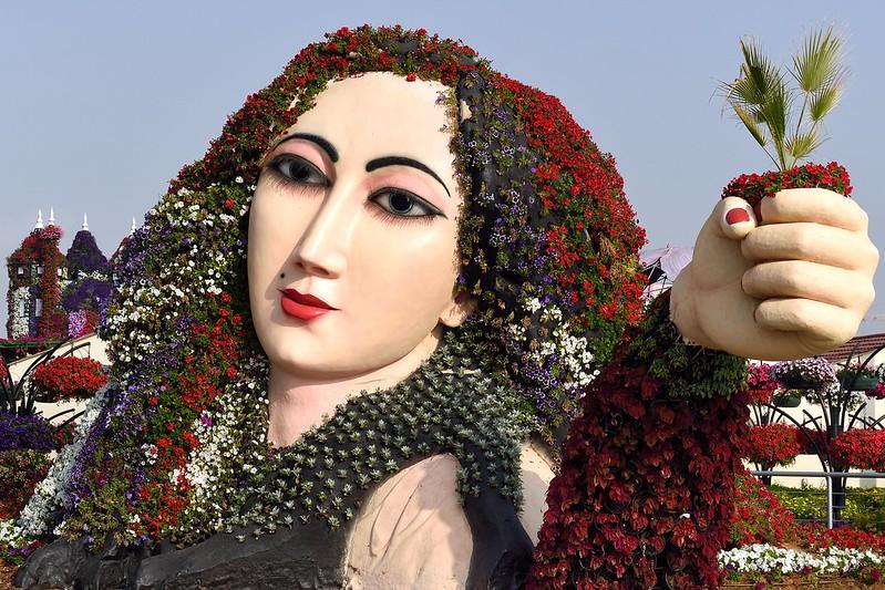 Exhibit at Miracle Garden in Dubai, United Arab Emirates